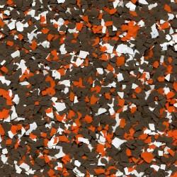 Paillettes mélangées Marron-Orange-Blanc