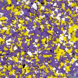 Paillettes mélangées Violet-Jaune-Blanc