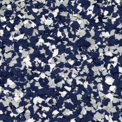 Paillettes mélangées Bleu Foncé-Gris clair-Blanc